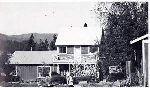 B.F. Lewis's former house, in a photo taken in the 1970s, after years of structural renovations