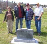 Some of those in attendance at the April 13, 2012, dedication ceremony of B.F. Lewis's headstone